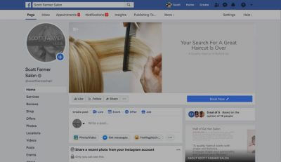 Hair Salon Business Facebook