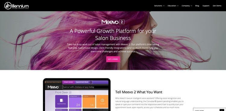 MEEVO Hair Salon Client Scheduling Software